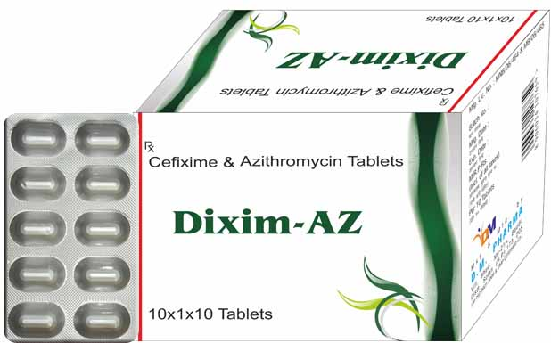 Cefixime and azithromycin tablets dose
